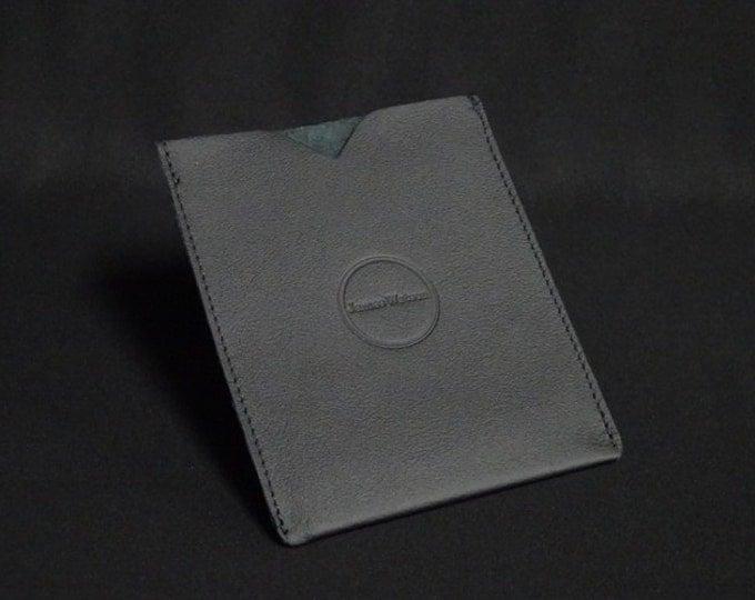 Passport Sleeve - Black - Kangaroo leather with optional RFID chip blocking - Handmade - James Watson