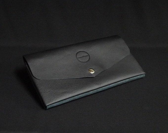 James Purse - Black - Kangaroo leather purse with RFID Credit Card Blocking - Handmade in Australia -James Watson