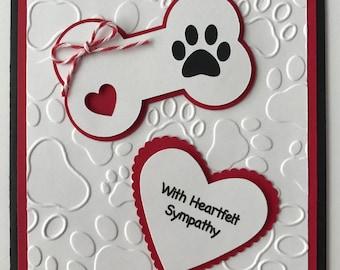 """Handmade """"Dog Sympathy"""" Card, Heartfelt Sympathy, Furry Friend, Dog, Puppy"""