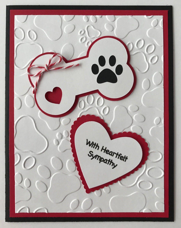 handmade dog sympathy card heartfelt sympathy