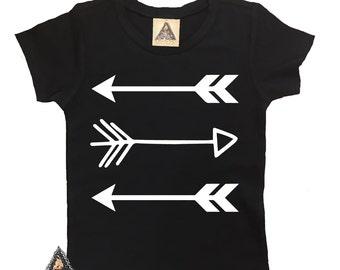 THREE TRIBAL ARROWS kids tee / Boho/Tribal bodysuit / Edgy bodysuit / Baby Shower Gift /  Newborn bodysuit / Custom bodysuit