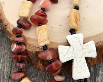 Agate Protestant Anglican Prayer Beads