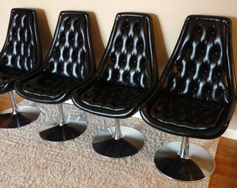 Mid Century Chromcraft Set of Four Chairs