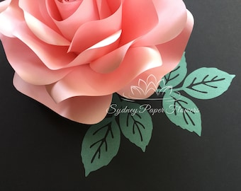 Rose LEAF template/Paper leaf TEMPLATE/Paper flower template/Paper flower tutorial/Paper art/DIY decor/Birthday party decor/Wedding decor