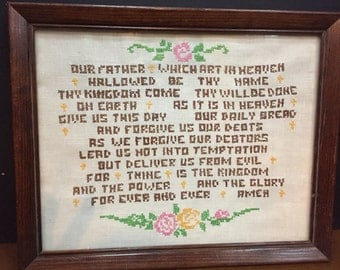 Lords Prayer Cross Stitch