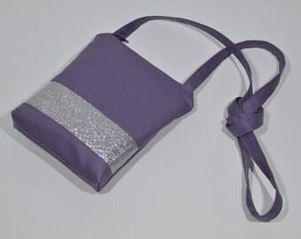 Small travel Crossbody.Travel purse.Canvas Cellmate.petit sac bandouliere.sac de voyage.travel mate.purse on the go.crossbody bag.small bag.