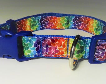 Adjustable Colourful Dog Collar - Blue