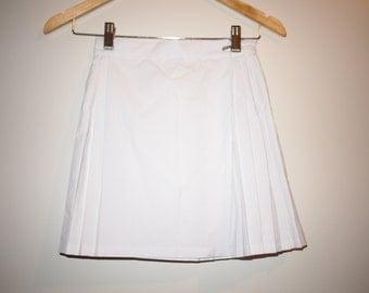 90's White Netball Skirt