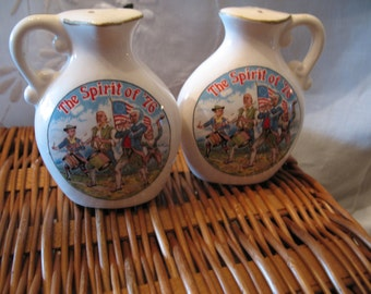 Salt & pepper shakers souvenir from Japan (by nanco) 1776 American revolution bicentennial