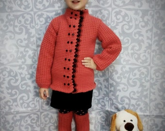Wool knitted suit for girls