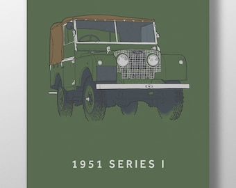 1951 Land Rover Series 1 print