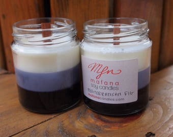 Mediterranean fig candle with wooden wick