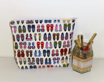 Shoes Toiletries Bag, Toiletries Bag, Large Cosmetics Bag, Shoes Cosmetics Bag, Shoe Make up Bag, Large Make-up Bag, Shoe Lovers Gift