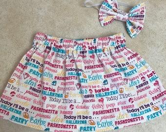Barbie skirt set