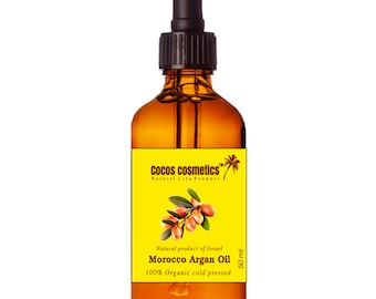 Mothers Day Gift / Organic Argan oil - Moroccan pure argan oil 100% cold pressed- Gold Argan oil