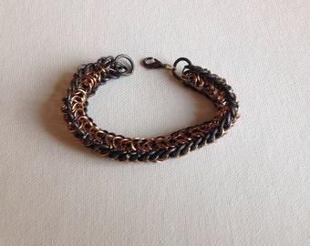 Multimetal dragonback chainmale bracelet