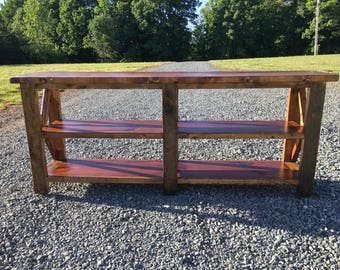 Rustic entry way table/ tv console 6ft long! LOCAL pick up ONLY!!!!