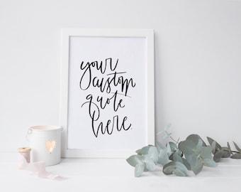 Custom digital quote