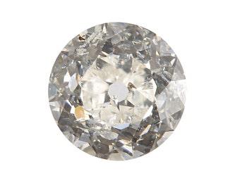 Diamond old European .35 carat | GIA report certificate i i1 | early round brilliant cut Loose diamond | Antique Vintage | circa 1900