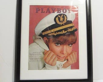 Vintage Playboy Magazine Cover Matted Framed : August 1966 - Sissy
