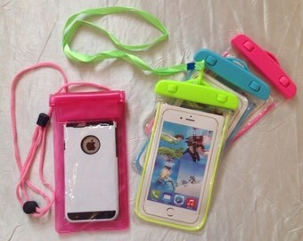 Waterproof glow in the dark cell phone case