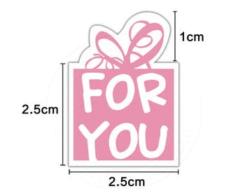 120pcs pink for you paper wedding gift wrapping cookie candy packaging labels envelope seal sticker party supplies