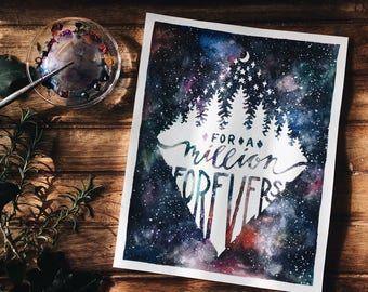 For a Million Forevers Giclee Watercolor Print