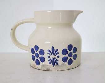 ceramic jug with blue flowers