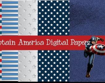 Captain America Digital Paper