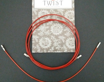 ChiaoGoo Red Twist Cables Small , for interchangeable tips