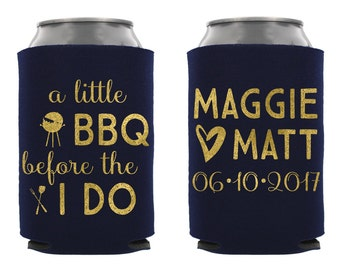 Custom Rehersal Dinner Can Cooler, Wedding Barbecue, Personalized Rehersal Dinner Can Cooler, I Do Barbecue, A Little BBQ Before the I Dos