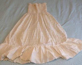 Vintage 60's Sundress strapless summer dress