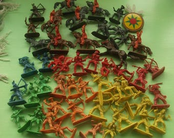 cowboy and indians plastic toys