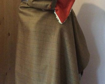 Tweed scarf/ neck wrap