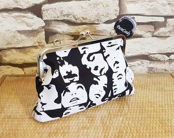 POP ART - Gorgeous black and white clutch bag
