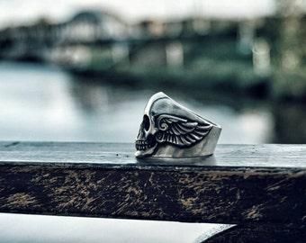 Skull Bikers Silver Ring like King Baby Studio
