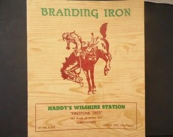 1960s Restaurant Menu - Branding Iron