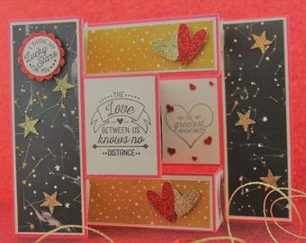 Handmade Cards, Fancy Tri-Fold Shutter Card, Love Cards,  Custom Cards, Unique Cards, Luxury Cards, Birthday Cards, Special Occasion Cards