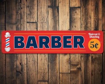 Barber Sign, Barber Shop Sign, Barber Shop Decor, Barber Gift, Barber Pole Sign, Barber Pole Decor, Barber Decor -Quality Aluminum ENS100017