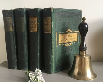 Vintage Classics Book Bundle, Green Book Bundle, Collectible, Decorative, Bedroom Decor, Home Decor, Book Display