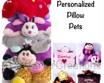 Personalized Red Ladybug Pullow Pet