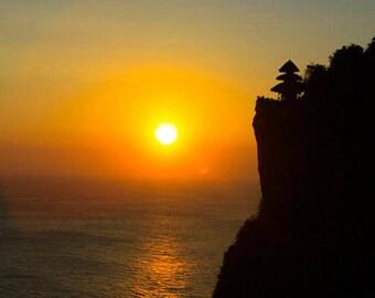 Sunset at Pura Luhur Uluwatu, Bali