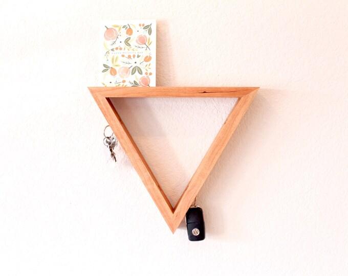 Key Hanger - Magnetic Key Organizer - Modern Cherry Key Hanger - Geometrical Key Rack - Picture Holder