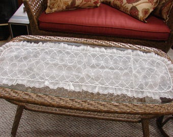Floral Sheer Embroidered Table Runner