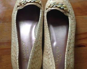 Italian loafers/Italian leather/Italian shoes/Leather shoes/Leather flats/Italian Flats/Gold flats/buckle flats/