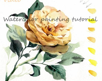 Watercolor tutorial 2 yellow rose