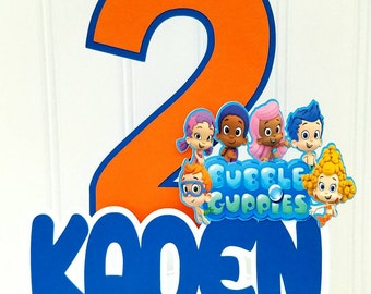 Personalized Bubble Guppies cake topper, Bubble Guppies birthday, Bubble Guppies cake, Bubble Guppies party supplies, Bubble Guppie