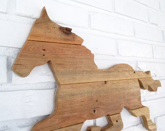 Rustic Horse Sign Wall Decor Wood Horse Weathervane Farm Country Wall Art  #7010