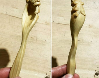 pug hungry wood spoon