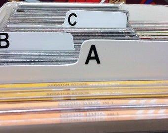 A-Z Box Dividers for CD (spine up, narrow)
